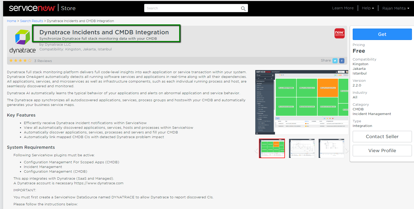 Dynatrace and SNOW integration - Service Management - ServiceNow
