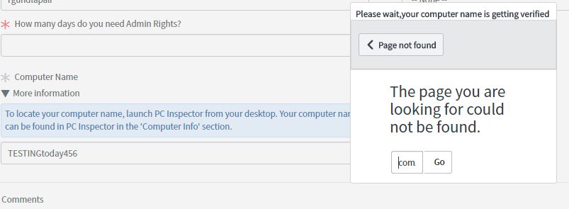 GlideDialogWindow showing as Page cannot be found - Developer