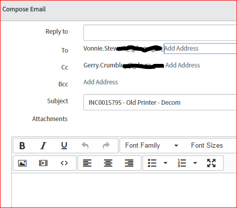 Can We Make Email Reply To Auto Populate With Itil Email It