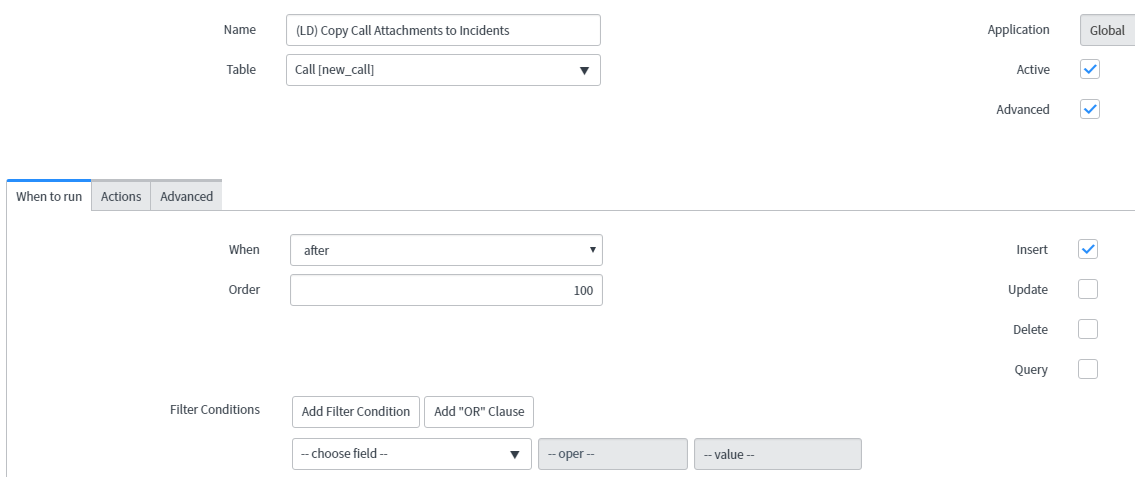 How to move attachments from a Call to an Incident - ITIL